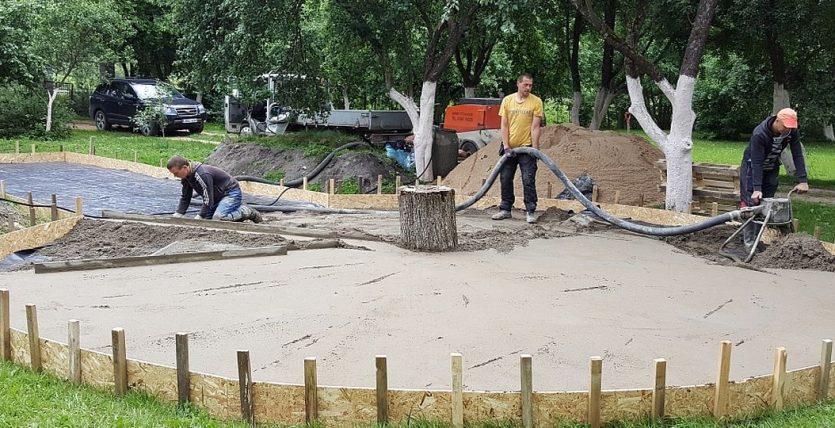 Aikšteliu betonavimas
